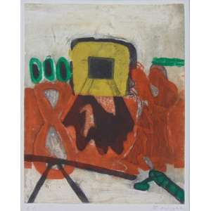 Hoo Mojong - Abstrato - Gravura em metal - P.A - Ass. inferior direito - 55 x 45 cm - não emoldurada.