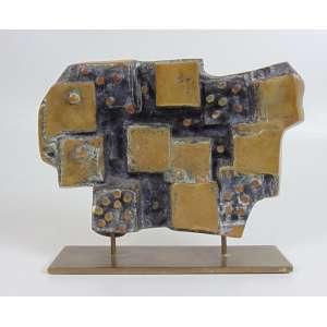 Caciporé - Sem Título - Escultura em bronze - assinada - 23 x 30 cm.