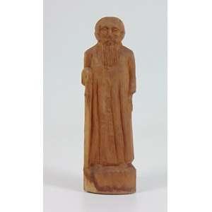Mestre Noza - Padre Cicero - Escultura em madeira - Ass. na base - 25 cm alt.