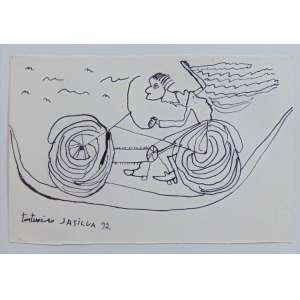 José Antonio da Silva - O Tintureiro - nanquim s/ papel - ass. inferior esquerdo - 1992 - 17 x 25 cm.