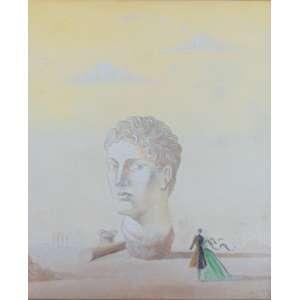 Santa Rosa - Figura Grega - 1941 - Guache sobre papel - ass. cid - Ex-coleção Copacabana Palace - 60 x 50 cm.