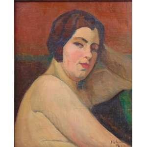 HELENA PEREIRA DA SILVA OHASHI - A Modelo - OST colada em eucatex - Ass - dat.loc PARIS - 1929 - 45 x 37 cm.