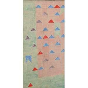 ALFREDO VOLPI - Bandeirinhas - Exposição VOLPI -Projetos e estudo Têmpera sobre tela - Ass. no verso - 34 x 17 cm.