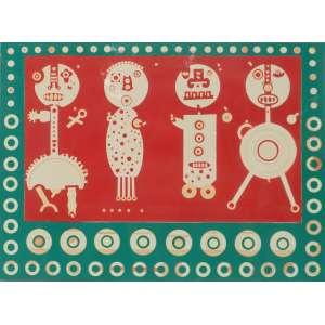NIOBE XANDÓ – Figuras -Técnica mista sobre papel , assinada , dat 1975 - 51 x 70 cm