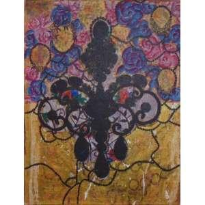 BEATRIZ MILHAZES - Por ti, América - Acrílica sobre tela/Ass verso - Dat. 1992 - 90 x 70 cm.