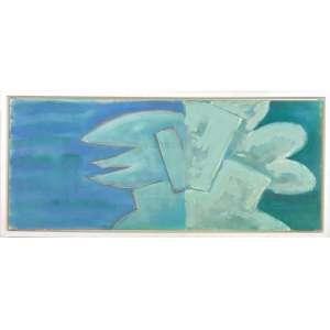BEATRIZ MILHAZES - Sem título - Acrílica sobre tela - não ass.50 x 121 cm.