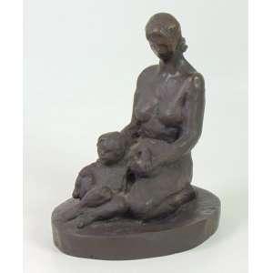 ERNESTO DI FIORI - Maternidade - Escultura em bronze - Dat. 1939 - assinado na base - 26 x 24 cm.