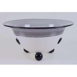 Centro de mesa de murano - 12 cm açt, 25 cm diâm.