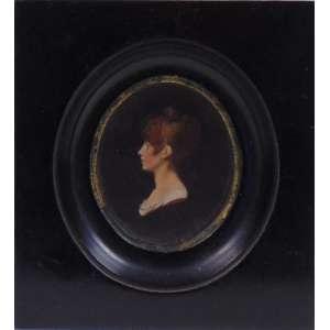 Miniatura - Reprodução gráfica representando figura feminina - 6 x 4 cm alt.