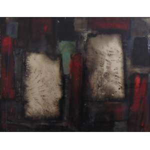 Rosário Moreno - Técnica mista - Abstrato - CID - Dat. 61 - 48 x 62 cm.