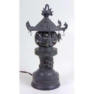 Luminária de Bronze - Japão Séc XX - 25 cm alt.