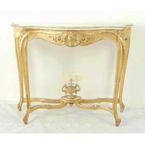 Elegante Aparador de madeira lavrada e dourada . França Sec XIX - 90 cm alt, 115 comp 41 prof.