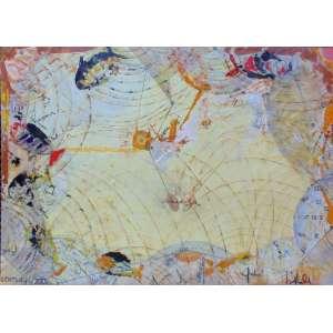 Sergio Longo - a Dança das horas - Ass. no Verso - OST - 1,59 x 2,19 cm.