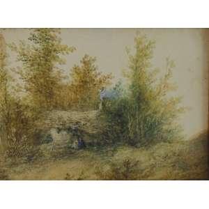 FERNAND PALLET - Óleo sobre papel / CIE - 14 x 18 cm.