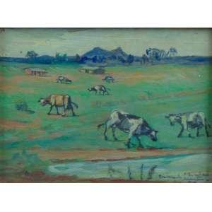 INOCÊNCIO BORGUESI - Vacas - Bairro do limão - Dat. 40 - OSM/CID - 14 x 19 cm