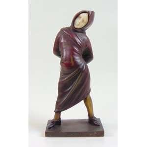 Escultura de bronze e marfim representando criança .Europa inicio do Séc XX . - 16 cm alt.