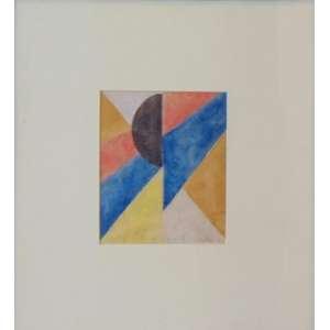 A Gomide - Sem Título (Composição) - Aquarela sobre papel / Cid – s/data - 13,5 x 11 cm