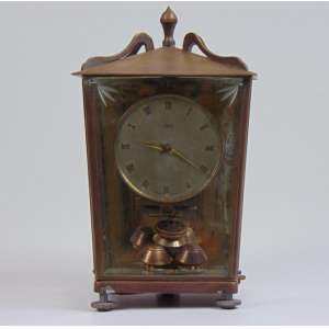 Relógio de mesa - Schutz - 20 cm alt. 13 x 11 cm. (no estado)
