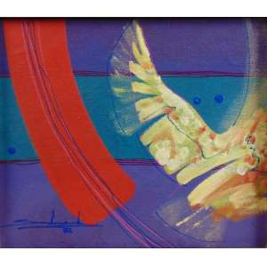 GILBERTO SALVADOR - Traço vermelho e asa amarela - OSM - 25 x 29 cm.