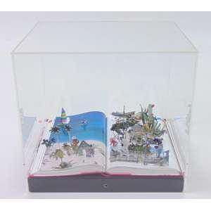 DANIEL ESCOBAR- Cuba 150-151 (Da Serie World) , Recorte sobre guia de Viagem, 2013, com caixa de Acrílico -- 25 alt, 23 compr, 23 prof. Certificado de Autenticidade da Galeria Ziper .