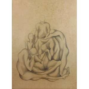 SERGIO SIMONE PERREIRA - Desenho - Dat 1955 - CID - 58 x 43 cm -