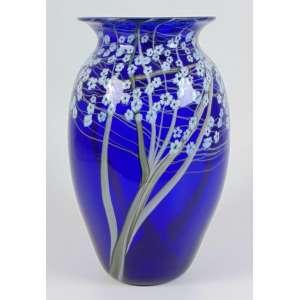 Vaso executado em fino vidro artístico - 38 cm alt, 20 cm diâm.