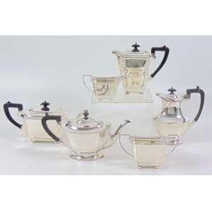 Warranted - Silver Solderd - S.P.N.S - England - 50212 - Jogo de chá de metal prateado com 6 peças