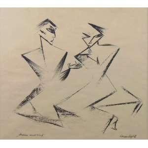 LASAR SEGALL - Die Sanfte - litografia de 1917 , assinada a lápis , reproduzida no livro Lasar Segall -Peintre, Graveur e Sculpture, - pag 68 - CID -37 x 40 cm.