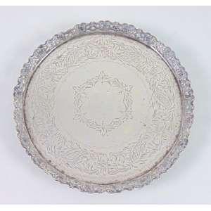Salva de prata de lei teor 833. Brasil Sec XX - 23 cm diâm.
