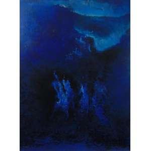 MABE MANABU- Composição abstrata , óleo sobre tela, C/I/D -Reentelado