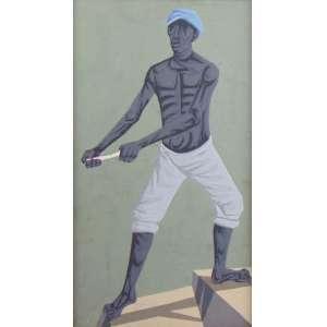 CLOVIS GRACIANO - Figura masculina - OSC - 53 x 29 cm.