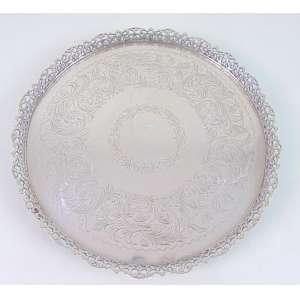Salva de prata de lei teor 833 - 36 cm diâm.Brasil Sec XX
