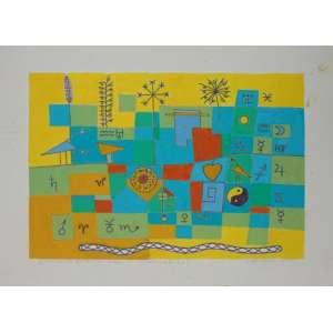 Dionízio Del Santo - 3 variações do mesmo tema - (variação II - 1/1) Dat. 1985 - Guache sobre papel - Não emoldurado - 18 x 26 cm.