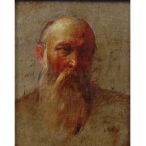 Anoinimo -Figura masculina - OSC - 20 x 16 cm. Europa Sec XIX.