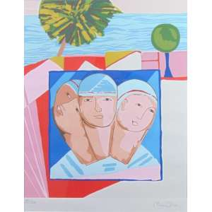 Cícero Dias - Três Figuras - serigrafia - 93/100 - ass. cid - 50x40 cm.