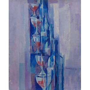 JOSÉ MORAIS - Garrafa e Copo - OST s/ madeira - CID - 1971 - 41 x 33 cm - apresenta desgaste da pintura nas bordas.