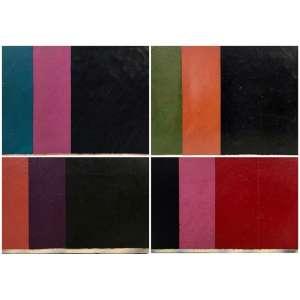 Eduardo Sued - Quatro obras a óleo s/ tela - assinados nos versos - 1982 - medidas: 22x18; 22x18 (peq.craquelado); 16x22 (craquelado); 14x22 cm.