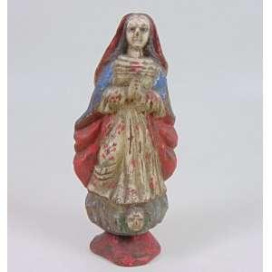 M. Milza - Arte Popular - Nossa Senhora da Conceição - madeira entalhada e policromada - segunda metade do século XX - 23 cm alt.