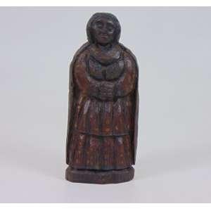 DONA ELI - Figura feminina - Escultura em madeira - 20 cm alt.