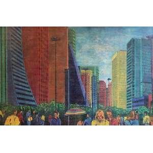 Cláudio Tozzi - Av. Paulista - AST - ass. cie - 1983 - 70x105 cm.