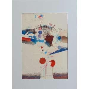 Ubirajara Ribeiro - S/T - Aquarela - ass. 1971 - 55 x 39 cm. (não emoldurada)