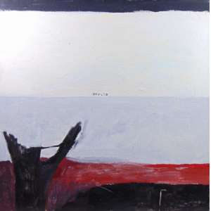 VANIA MIGNONE - Oculto - acrílica sobre tela , assinada no verso 80 x 80 cm ,Acompanha Certificado da Casa Triangulo