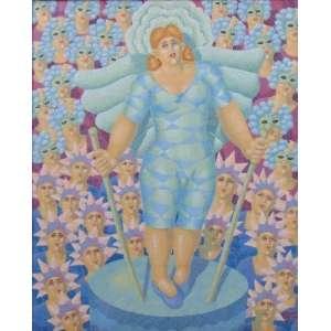 Ernani Pavanelli - Carnaval - Acrílico sobre tela - Ass. CID - 1998 - 45 x 37 cm.