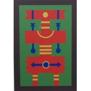 RUBEM VALENTIM - Emblema fundo verde - Serigrafia - 19/100 - Ass. Dat. 1972 - 33 x 24 cm.
