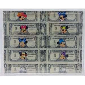 NELSON LEIRNER - Dolar Mickey - ass. lateral direita - 1999+12- H/C 2/2 - montagem em acrílico - 21 x 27 cm.