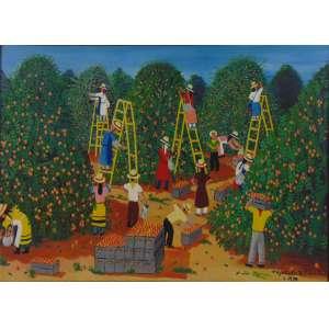 Agostinho Batista de Freitas -Colheita de laranja - OST - Ass.CID - 1970 - 50 x 70 cm.