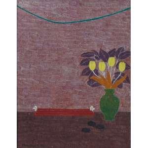Eleonore Koch - Tulipas - Têmpera s/ Tela - ass. cie - 1976 - 46x35,5 cm.