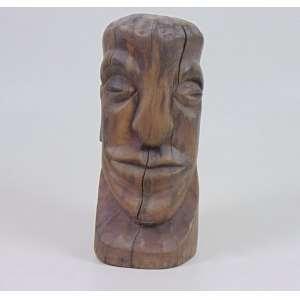 Manuel do Bonfim - Arte Popular - cabeça masculina - assinada - 24 cm alt.