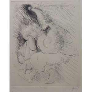 Gruber - Fantasiados - gravura em metal, p. sec. - ass. cid - 33x26 cm.