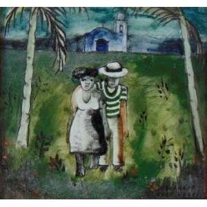 VOLPI - Sem título - Pintura sobre azulejo Osirarte - Ass. CID - 15 x 15 cm.